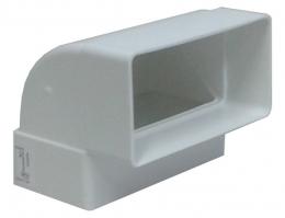 колено вертикальное на короб 55*110 (vents art.5252)