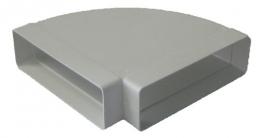 колено горизонтальное на короб 60*204 (vents art.8281)