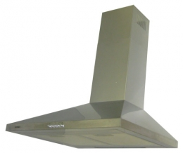 кухонная вытяжка каминного типа germes piramida 50inox