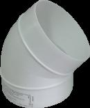 колено 45 градусов, на вентиляционные трубы д.100 (vents art.121-45)