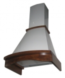 кухонная вытяжка каминного типа grand hc6290b-w