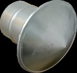Зонт д.125 (с переходником и для д.100)