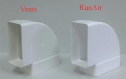 колено горизонтальное на короб 55*110 (vents art.5251/runair)