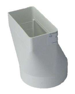 переходник прямой на пластиковый короб 55*110 (vents art.511)
