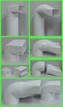 переходник угловой на пластиковый короб 55*110 (vents art.521/runair)