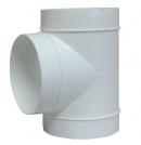 тройник на вентиляционные трубы д.125 (vents art.232/runair)