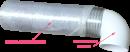 колено 90 градусов, на вентиляционные трубы д.125 (vents art.222/runair)